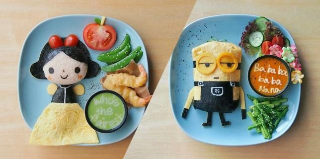 Pour donner de l'appétit à ses enfants, elle transforme ses repas en véritables oeuvres d'art