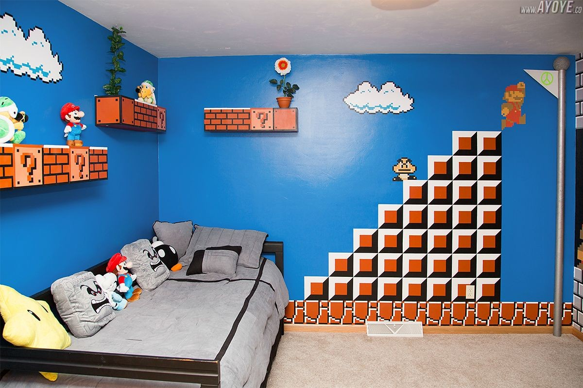 Une chambre pour un fan de mario bros cocktail for Decoration maison games