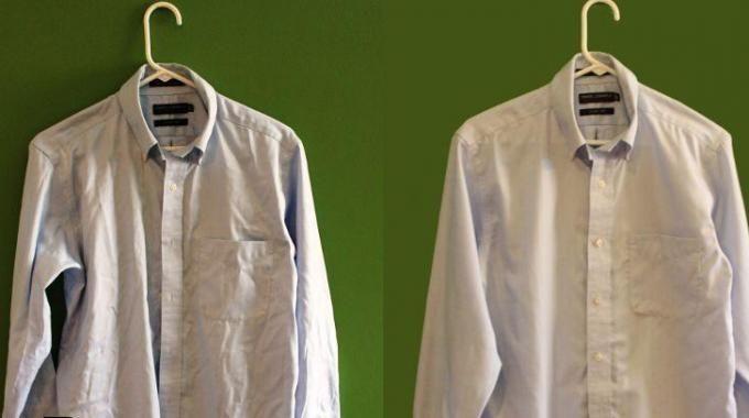 Voici une astuce pour d froisser un v tement sans fer - Repasser une chemise sans fer ...