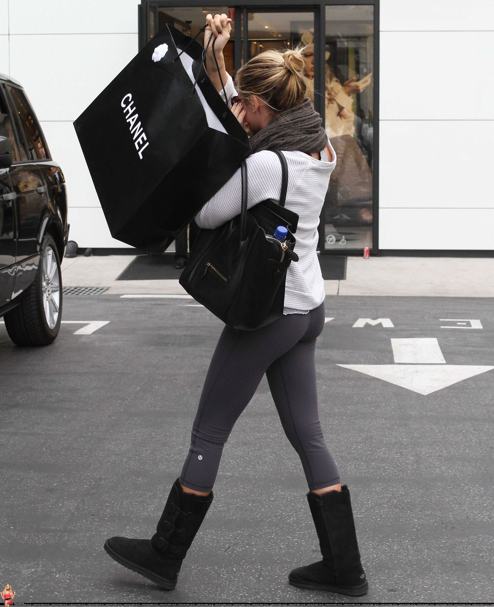 Ashley Tisdale in Tight Leaving The Chanel Store in Beverly Hills